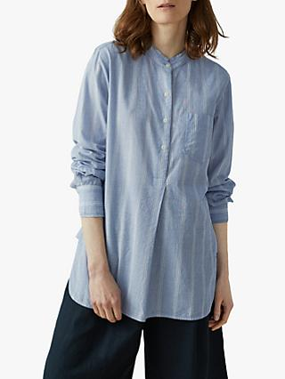 569f25cb2 Toast Chambray Stripe Cotton Shirt, Chambray/White