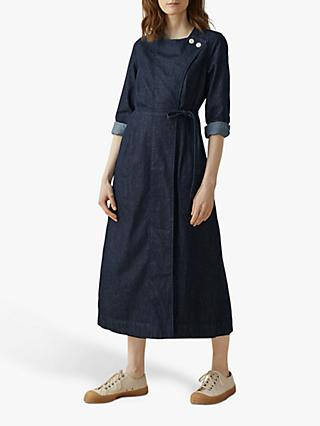 Toast Denim Wrap Front Midi Dress, Indigo
