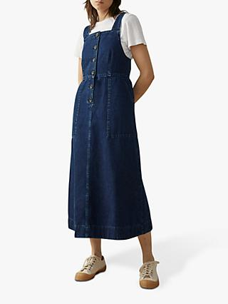 Toast Denim Pinafore Dress, Indigo