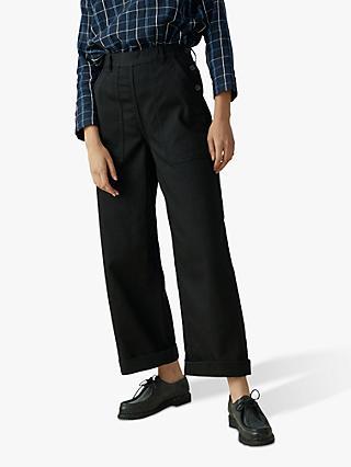 104acf8e3 Toast Denim Side Button Trousers, Black