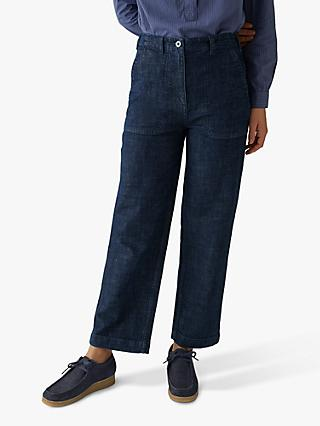 Toast Ashley Long Crop Jeans, Indigo