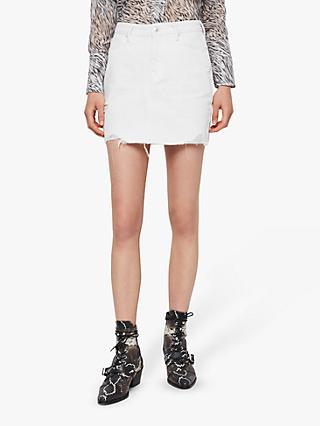AllSaints Betty Denim Skirt, White