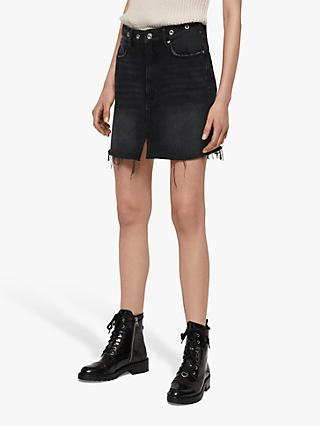 AllSaints Lila Eyelet Denim Skirt