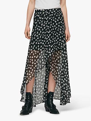 ce9f78de6be AllSaints Slvina Scatter Skirt