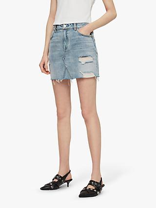 AllSaints Alex Denim Skirt, Indigo Blue