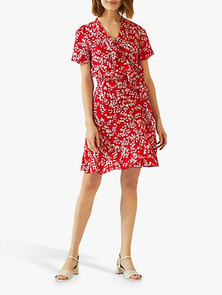 9bc3ead58f0 Jigsaw Leaf Print Silk Dress