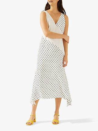 89808883542 Jigsaw Mixed Spot Maxi Dress