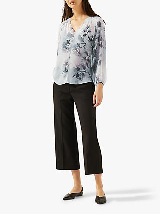 600ecd6085835 Jigsaw X-Ray Floral Silk Blouse