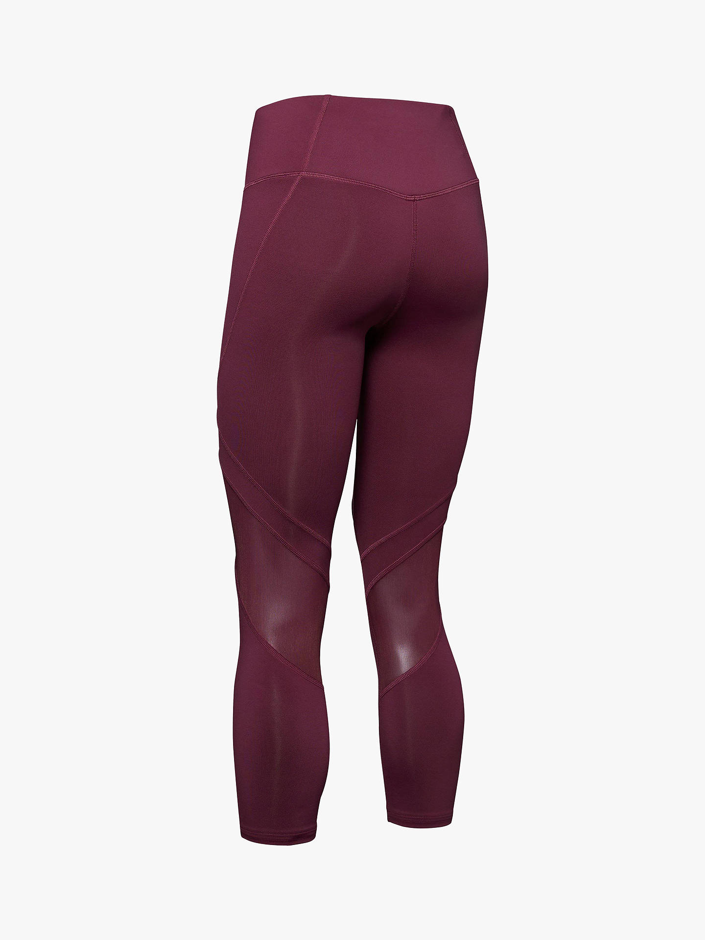 Buy Under Armour Rush Cropped Training Tights, Level Purple, XS Online at johnlewis.com