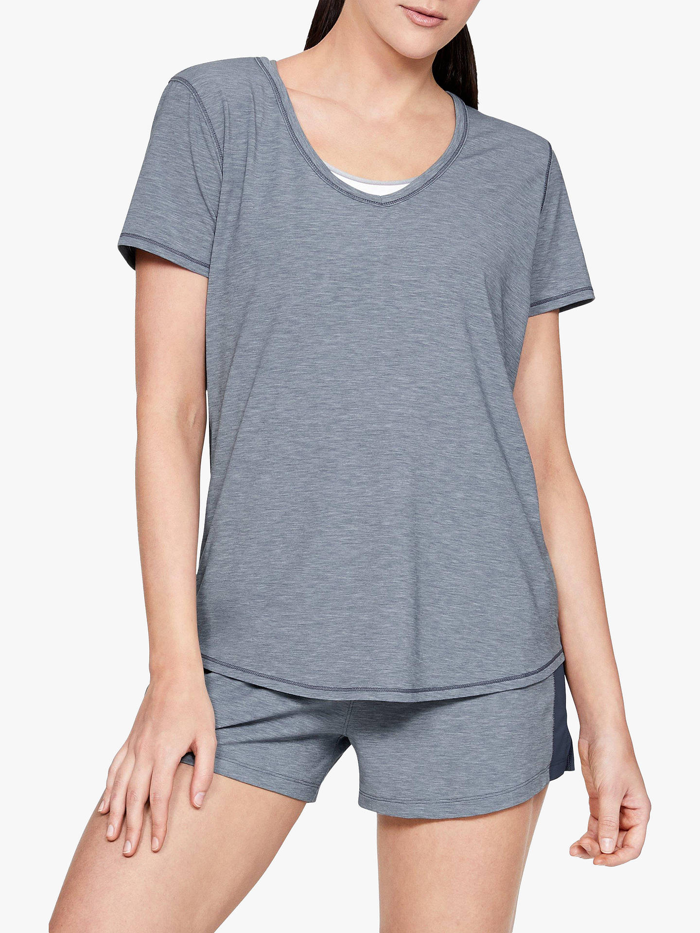 333db96416 Under Armour Athlete Recovery Sleepwear T-Shirt, Grey/Metallic Silver
