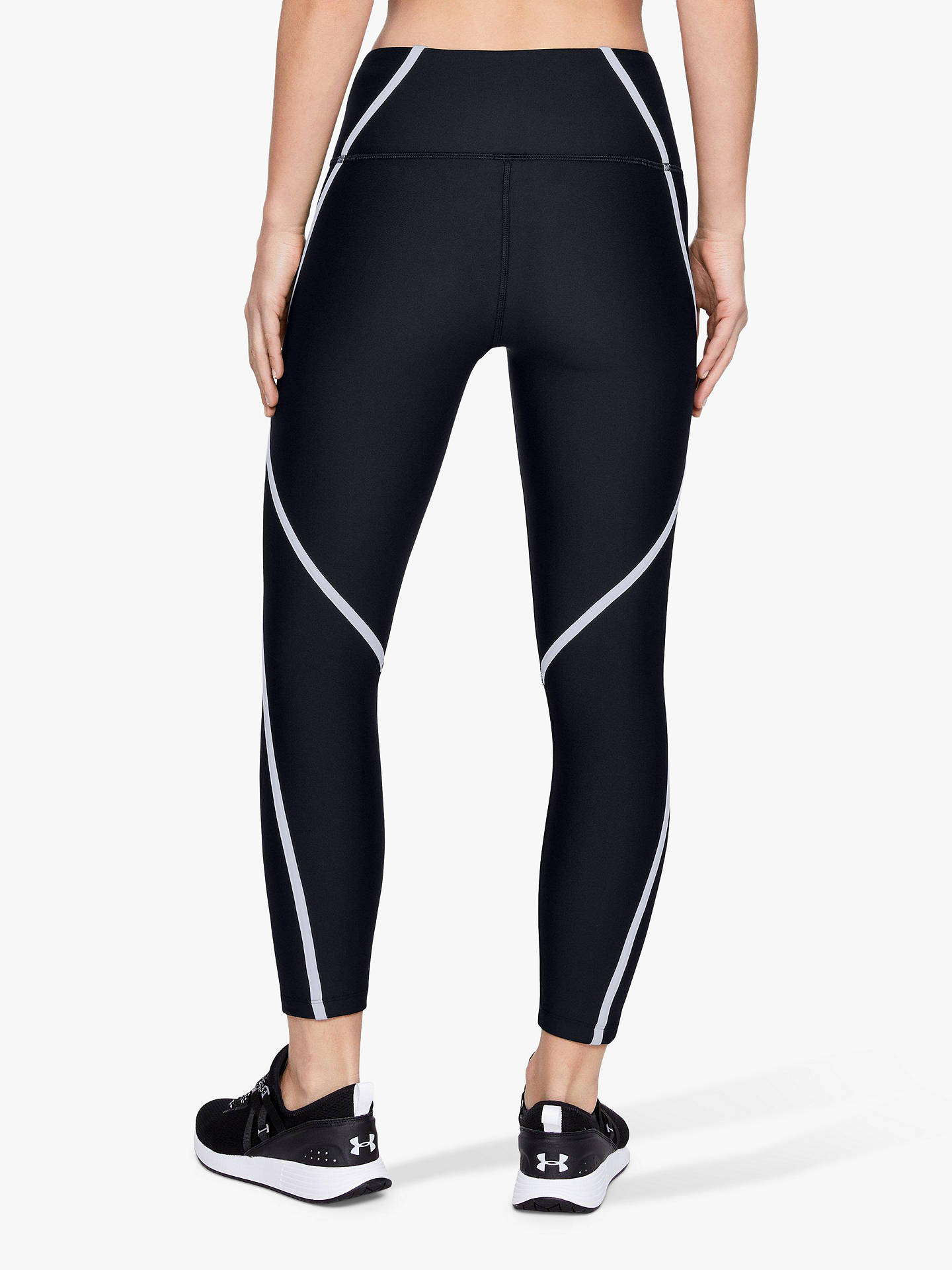 Buy Under Armour Edgelit Ankle Cropped Tights, Black/Silver, XS Online at johnlewis.com
