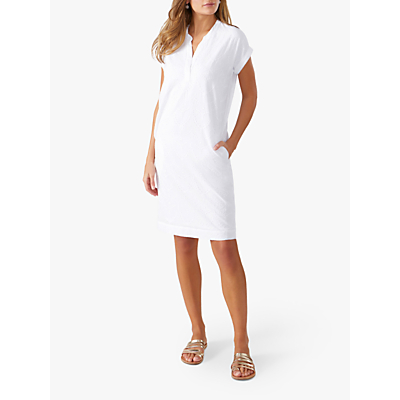 Pure Collection Broderie Dress, White