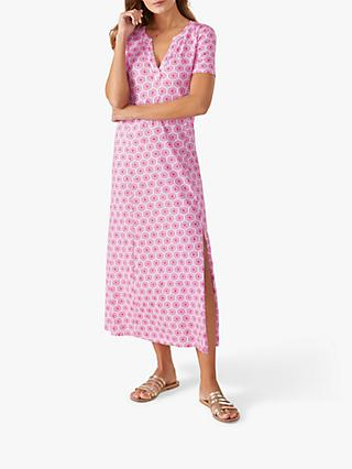 Pure Collection Jersey Maxi Dress, Bright Pink Tile