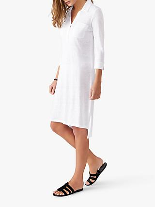 Pure Collection Linen Jersey Tunic Dress