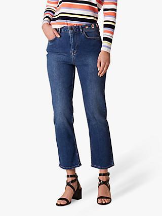 d01ad0738 Karen Millen Distressed Straight Leg Jeans