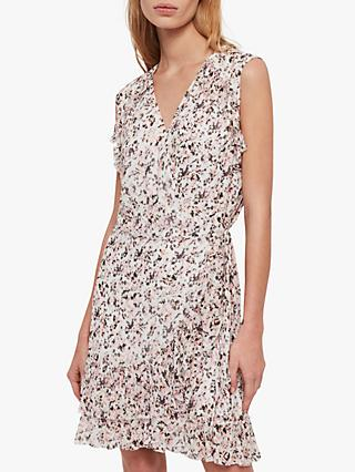 AllSaints Priya Freefall Dress, Chalk White