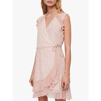 AllSaints Priya Leox Mini Dress, Red