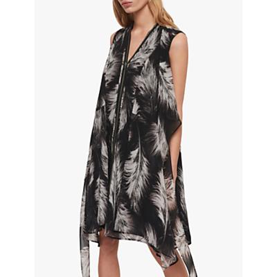 AllSaints Jayda Feathers Dress, Black