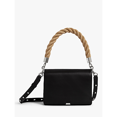 AllSaints Harri Leather Square Crossbody Bag