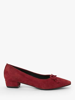 John Lewis & Partners Alexis Low Heel Bow Trim Court Shoes