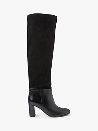 John Lewis & Partners Suri Suede & Leather Knee Boots