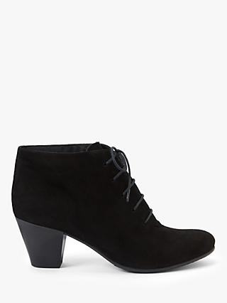 John Lewis & Partners Pippy Suede Ankle Boots, Black
