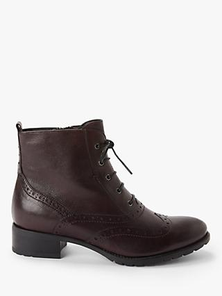 John Lewis & Partners Cambridge Leather Lace-Up Ankle Boots