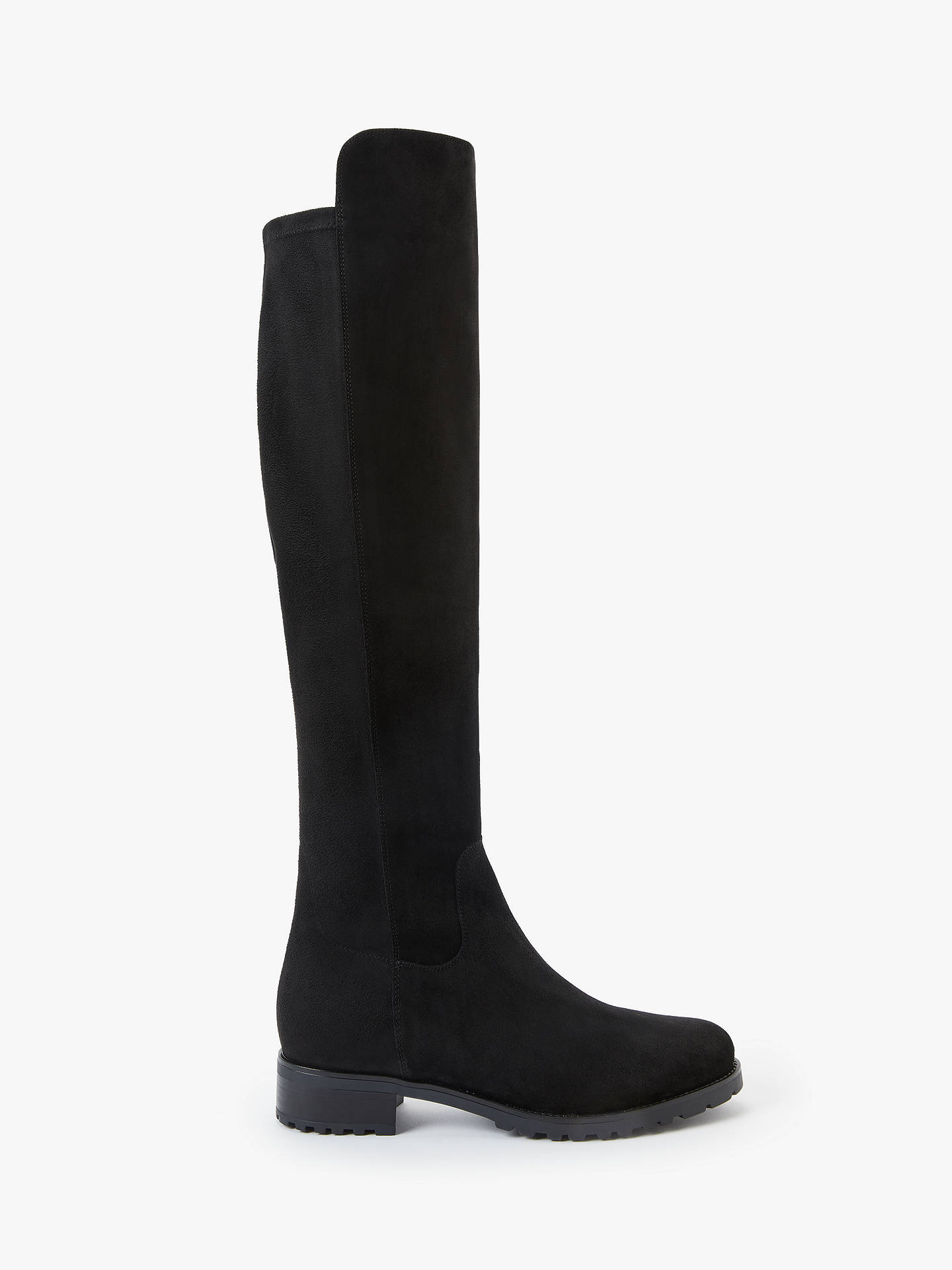 John Lewis & Partners Tilda Suede Over The Knee Boots, Black by John Lewis & Partners
