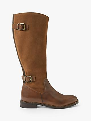 John Lewis & Partners Sandy Leather Riding Boots
