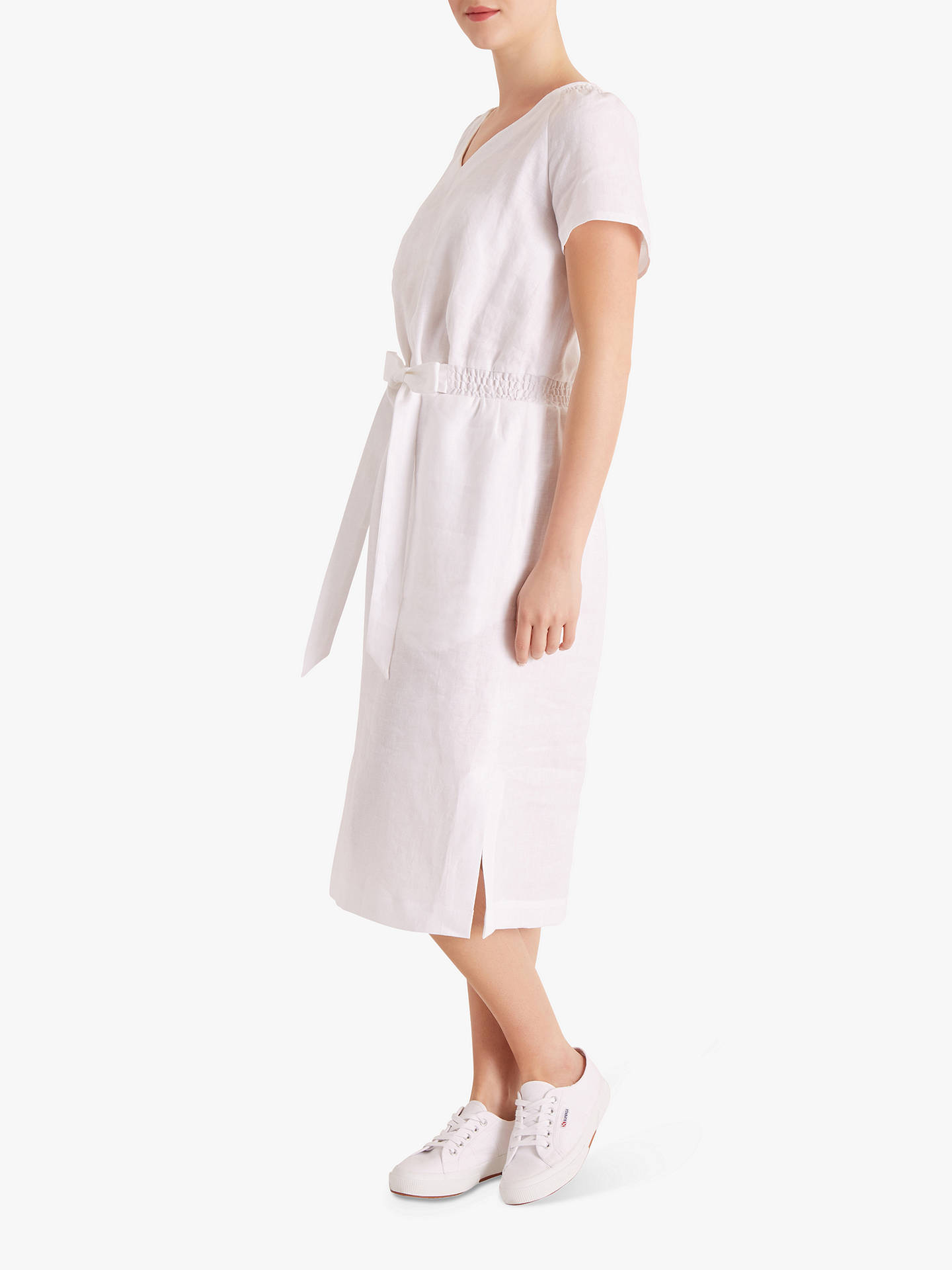Buy Fenn Wright Manson Petite Stacey Dress, White, 8 Online at johnlewis.com