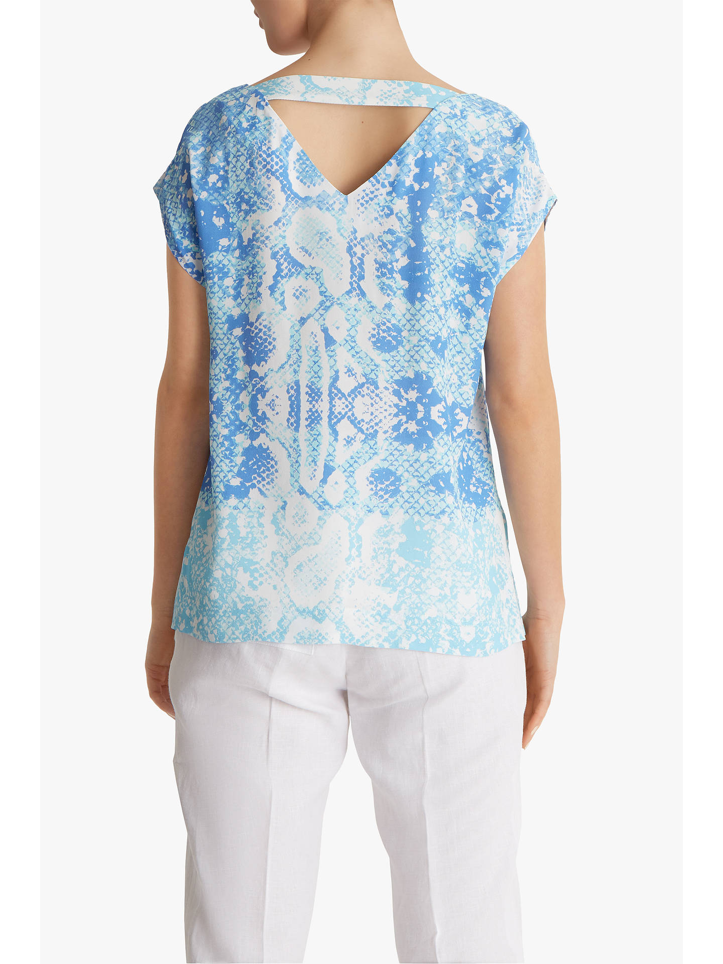 Buy Fenn Wright Manson Petite Python Short Sleeve Top, Blue Snake, 8 Online at johnlewis.com