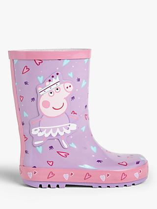 Peppa Pig Children's Ballerina Wellington Boots, Purple