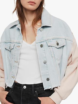 AllSaints Anders Denim Jacket, Snow Blue
