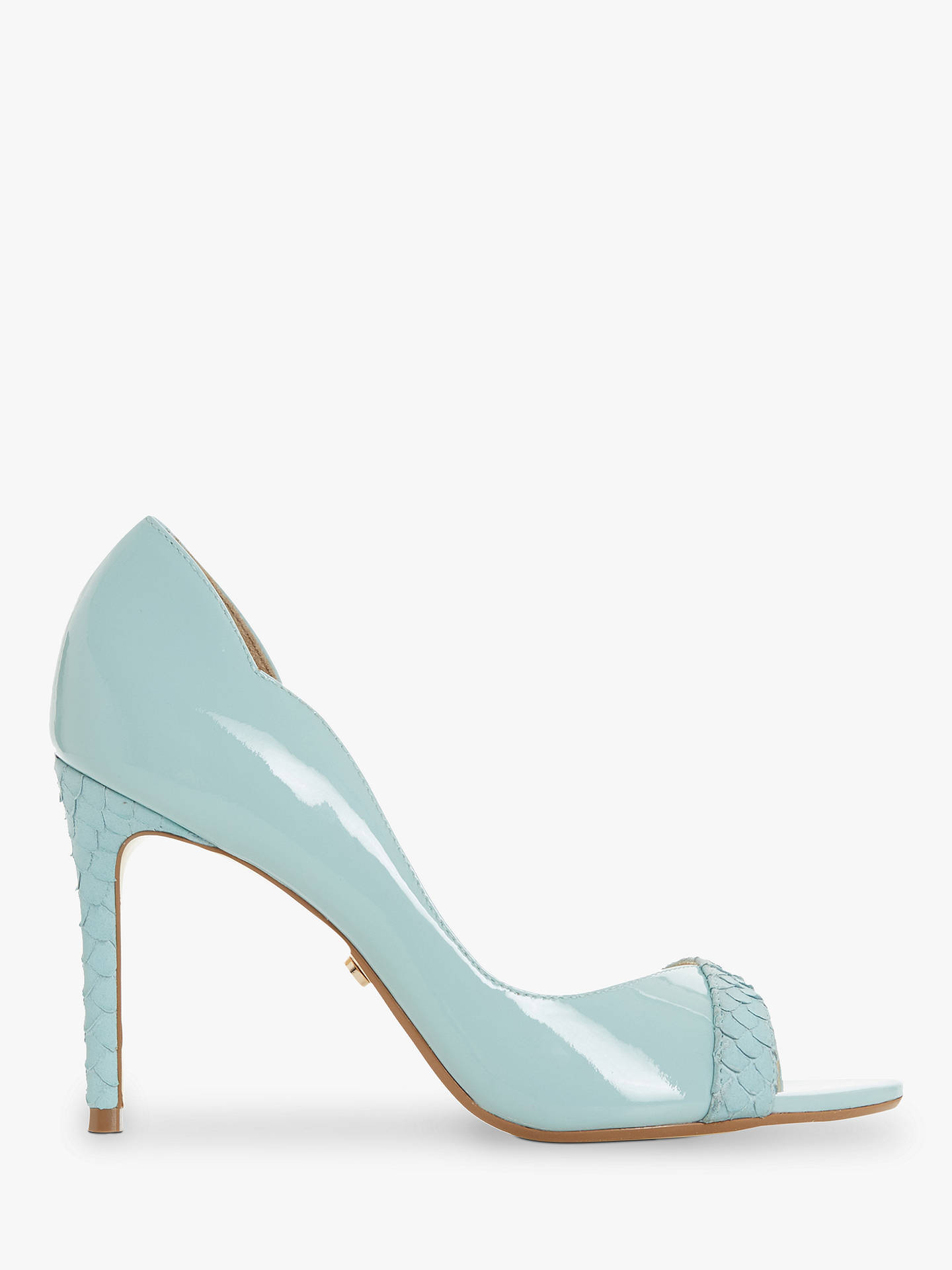 1e2aa527242c Buy Dune Danieler Cut Out Stiletto Heel Court Shoes, Turquoise, 3 Online at  johnlewis ...