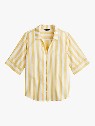 d3ca713dd46a J.Crew Button Up Wide Stripe Shirt, Mustard/White