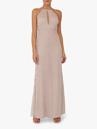 Raishma Blush Racer Style Gown, Blush Pink