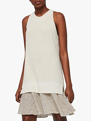 AllSaints Haliki Speckle Dress, Oyster White