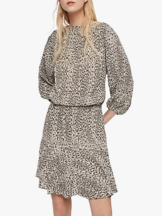 AllSaints Laci Lep Dress, Sand Brown