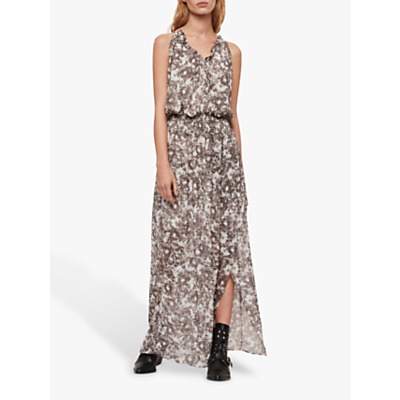 AllSaints Nylah Rosa Dress, Pale Grey
