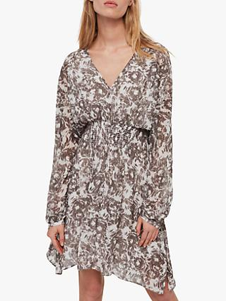 AllSaints Nichola Rosa Dress, Pale Grey