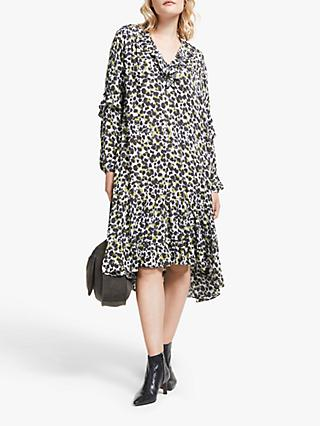AND/OR Prairie Animal Print Dress, Multi