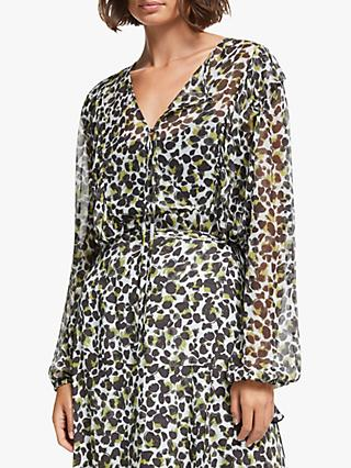 AND/OR Jojo Abstract Animal Print Blouse, Multi