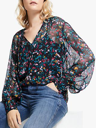 AND/OR Frida Abstract Animal Print Top, Multi