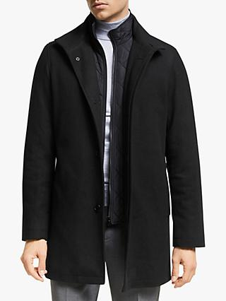 John Lewis & Partners Car Coat, Black
