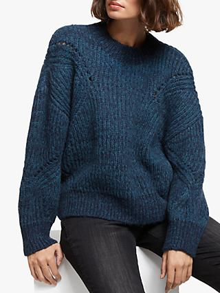 AND/OR Annabel Textured Knit Jumper, Blue