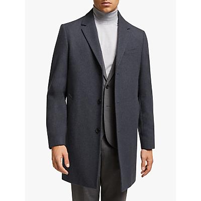 John Lewis & Partners Melton Epsom Coat, Airforce Blue