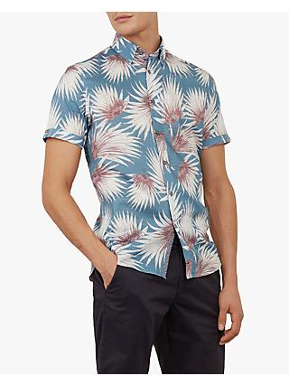 dc23e6629 Ted Baker Hedgeog Palm Print Short Sleeve Shirt