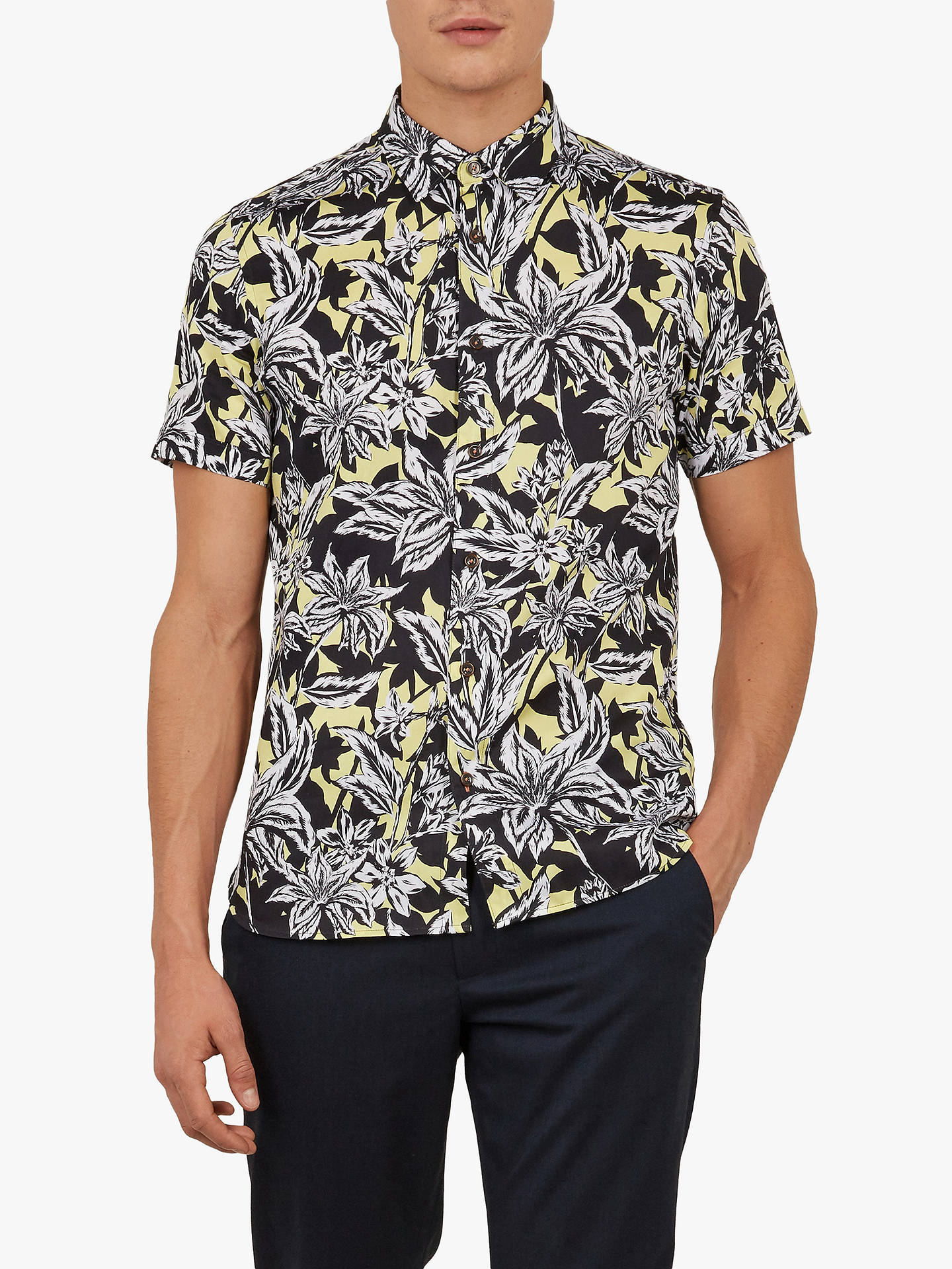 22cfcba6 Buy Ted Baker Octapss Floral Print Shirt, Mid Yellow, 15 Online at  johnlewis.