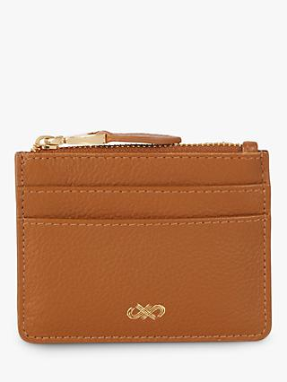 4a00cffafb5b Jaeger Leather Zip Top Card Holder