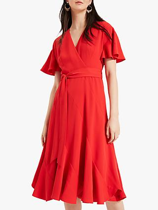 Phase Eight Elena Panelled Dress, Firey Red
